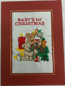 PERSONALISED BEAR FAMILY TREE CHRISTMAS CARD